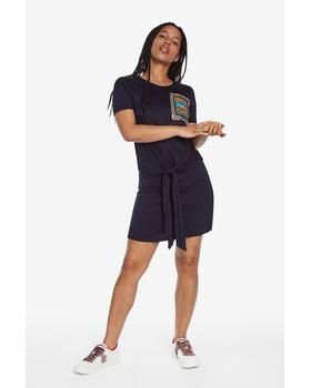 Knotted T-shirt dress Desigual 19WWVKAZ_5001